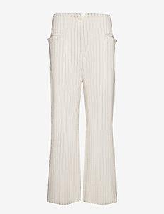 TWAIN - bukser med brede ben - soft white