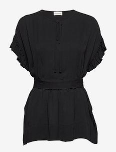 BAI - kurzämlige blusen - black