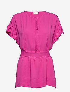 BAI - kurzämlige blusen - vibrant pink