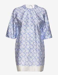 SIKA - kurze kleider - pacific blue
