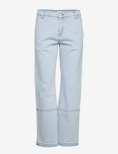 HELIA - straight jeans - chambray blue