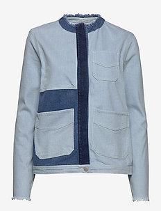 AGDAL - jeansjakker - chambray blue