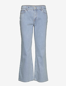 FIONAS - flared jeans - chambray blue