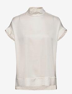 CANDILLON - lyhythihaiset puserot - soft white