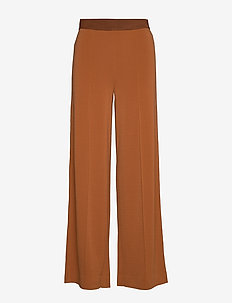 MIELA - bukser med brede ben - brick