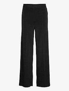 MIELA - bukser med brede ben - black