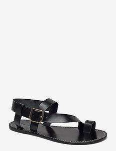 ATHENS - platta sandaler - black