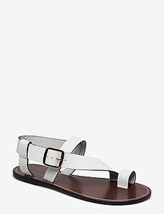 ATHENS - platta sandaler - pure white