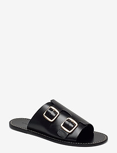 FIRENZIA - platta sandaler - black