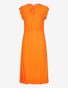 SPAINE - midi kjoler - orange popsicle