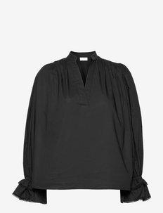 OLGASSON - långärmade blusar - black