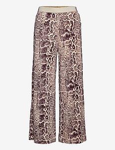 MALINE - bukser med brede ben - wood