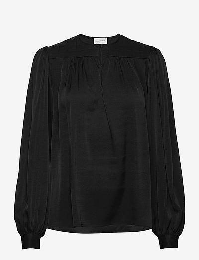 ARMELLA - langærmede bluser - black