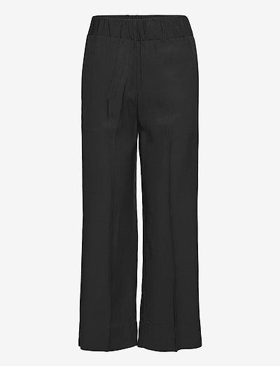 MIZONI - bukser med lige ben - black