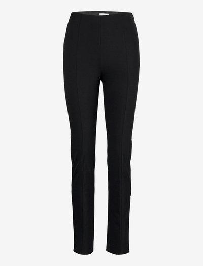 LISABOA - bukser med lige ben - black