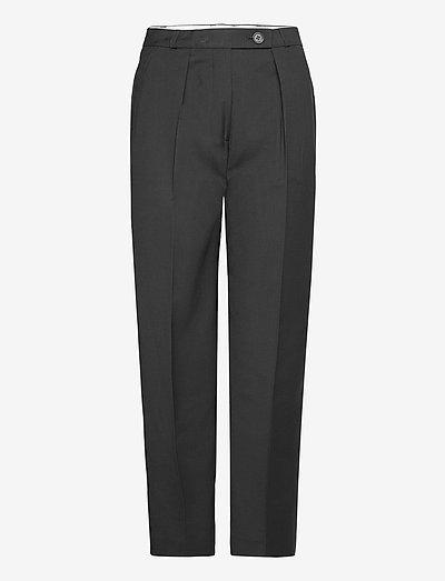 DAINA - bukser med lige ben - black