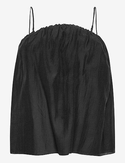 DIODIA - ermeløse bluser - black