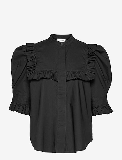 OIA - kurzämlige blusen - black
