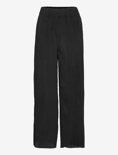 LETITA - bukser med brede ben - black