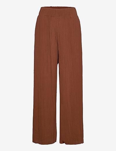 LETITA - bukser med brede ben - raw sugar