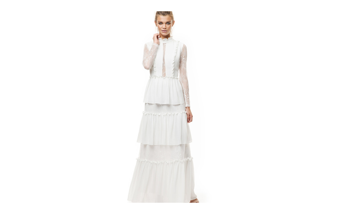 Équipement 100 Doublure Gina White Maxi Malina Polyester Intérieure Polyester Dress Elastane 97 3 By RqP1Zw7H