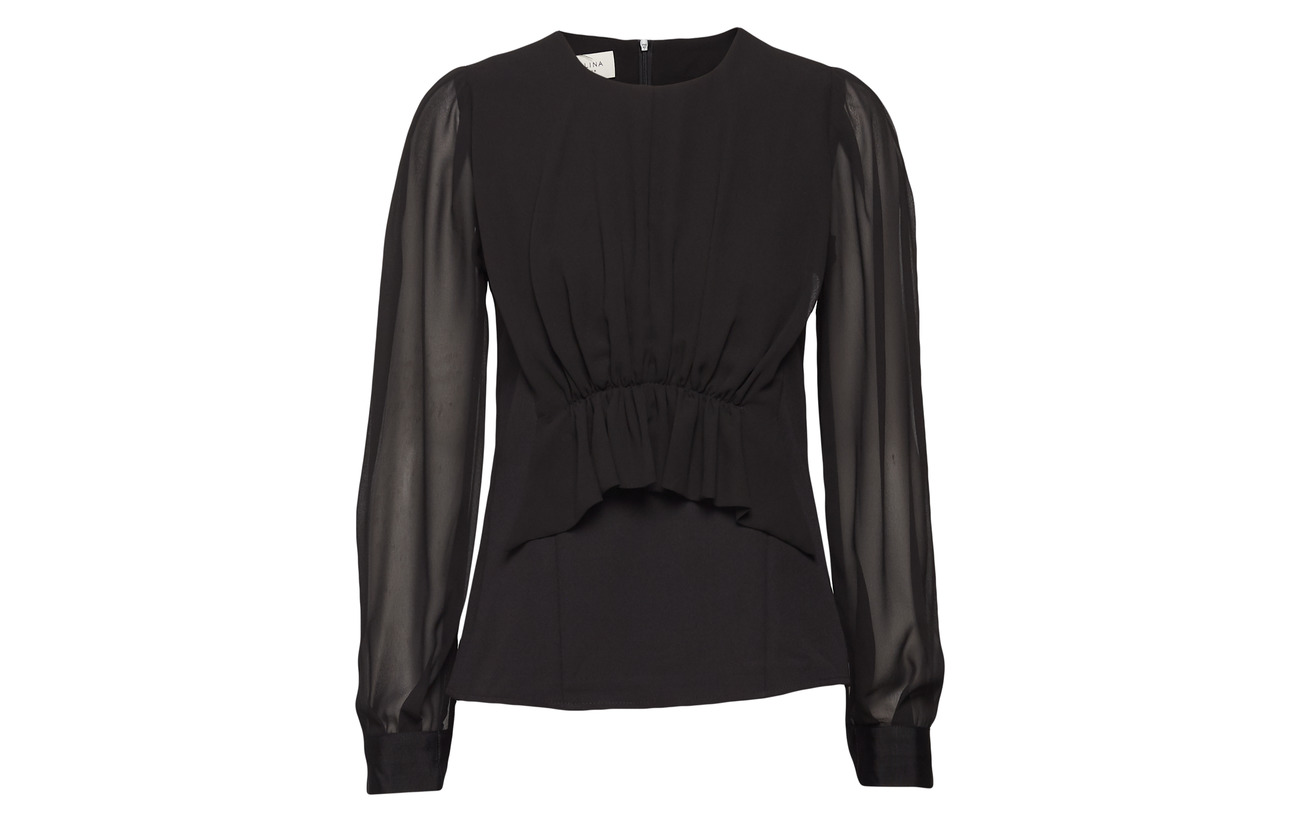 Blouse Faye Équipement 100 95 By Intérieure 5 Black Malina Elastane Polyester Doublure Polyester 1pqwO