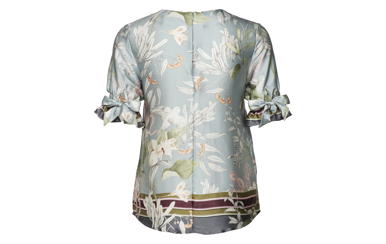 Satin Malina By 100 Heart Palm Soie Of Équipement Nemy Blouse 4cdwq8xBH