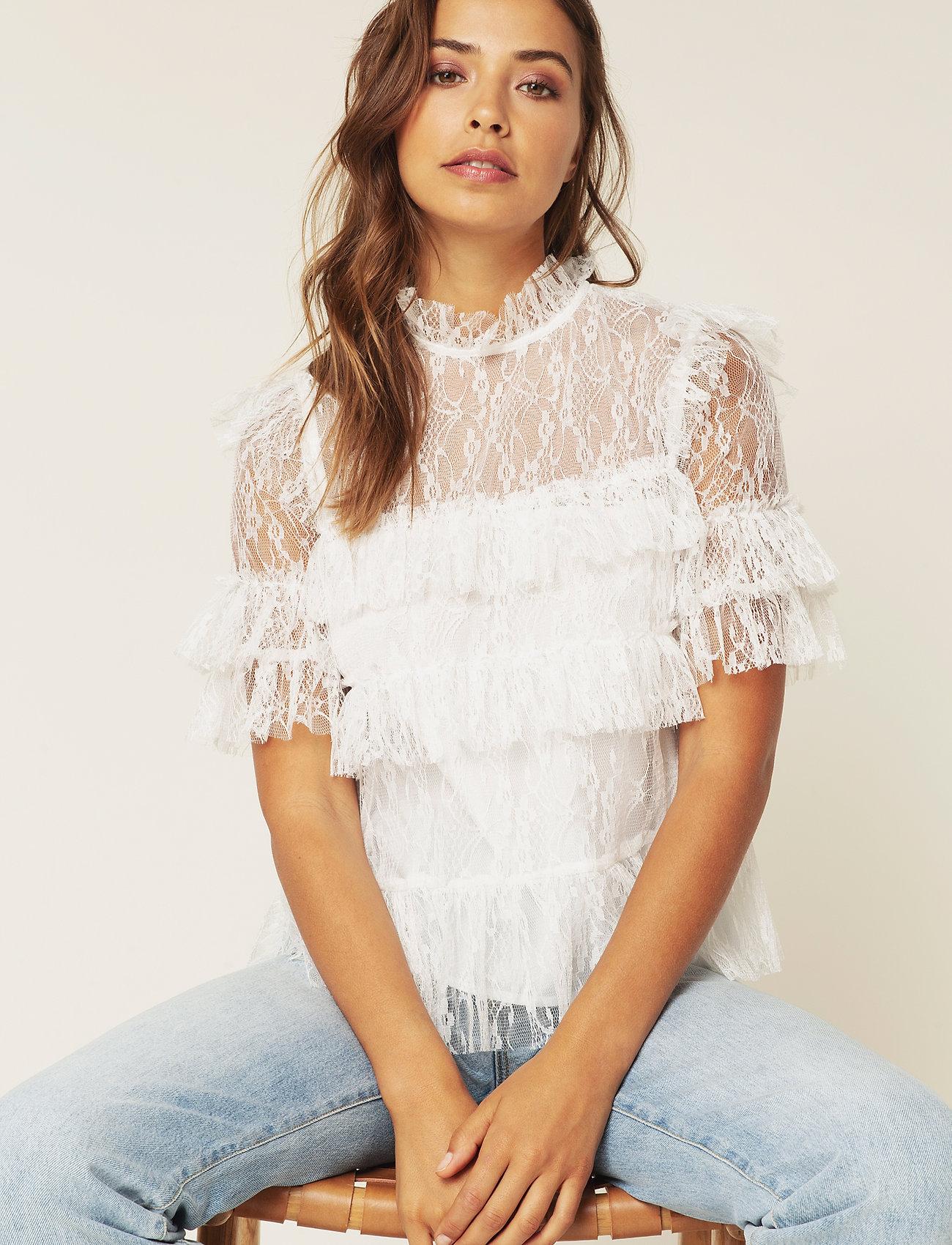 By Malina - Rachel blouse - kortärmade blusar - white - 0