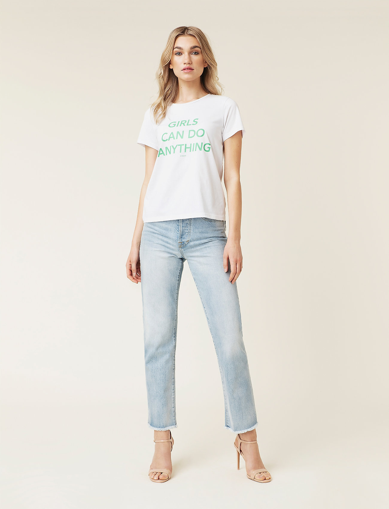 By Malina - Alexa jeans - straight regular - light blue wash - 0