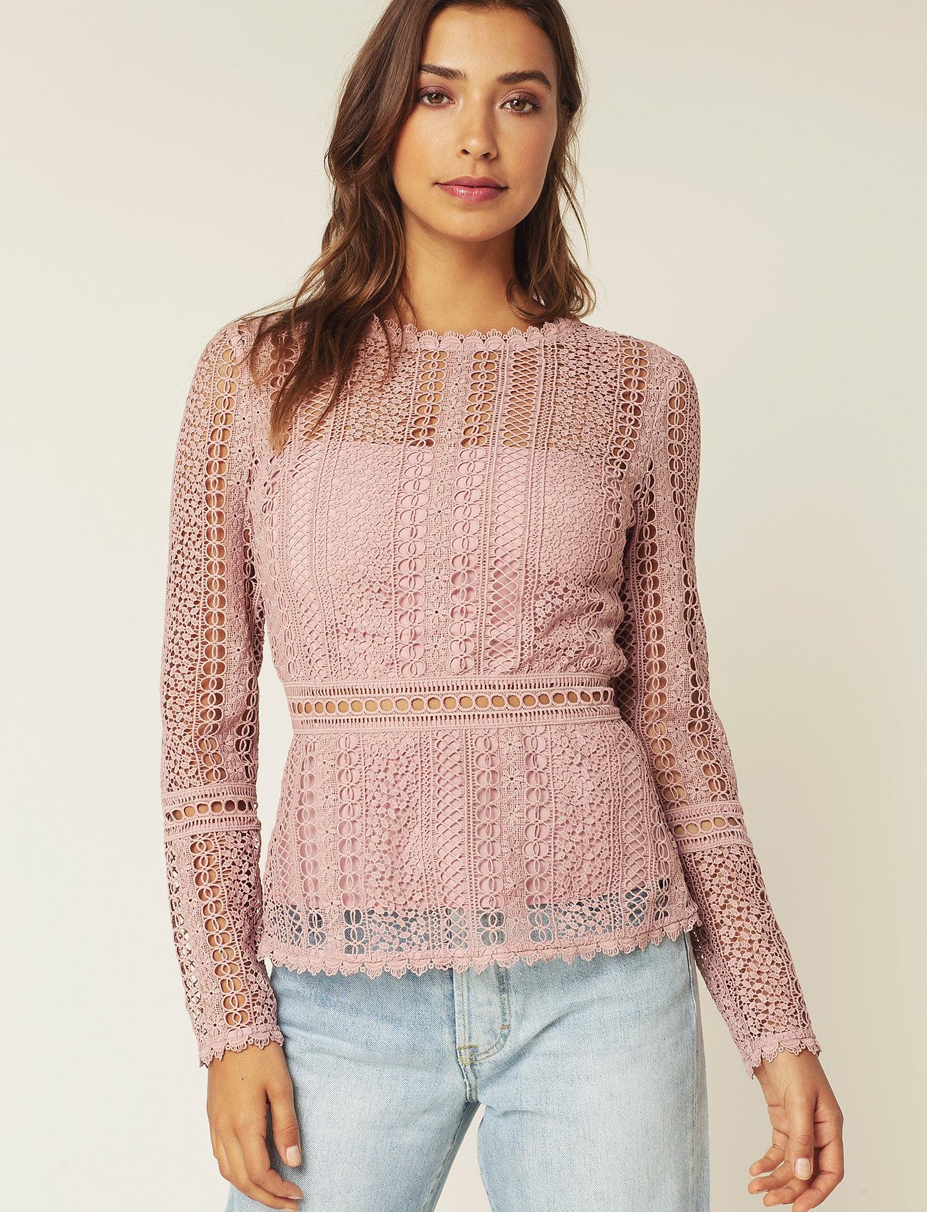 By Malina - Marilene blouse - långärmade blusar - rosé - 0