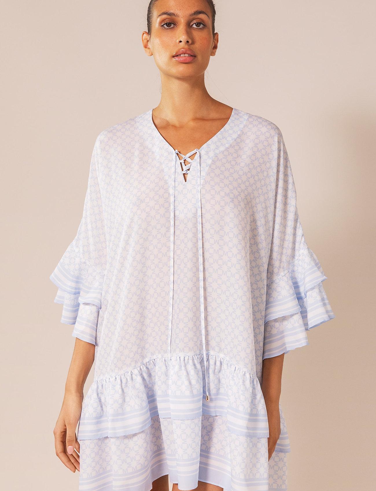 By Malina - Kyla dress - vardagsklänningar - iconic print ocean blue - 0