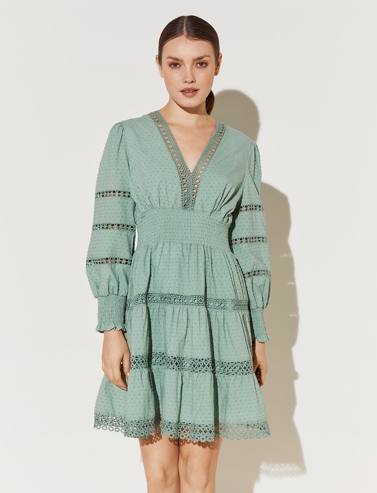 By Malina - Inez dress - korta klänningar - sage - 0
