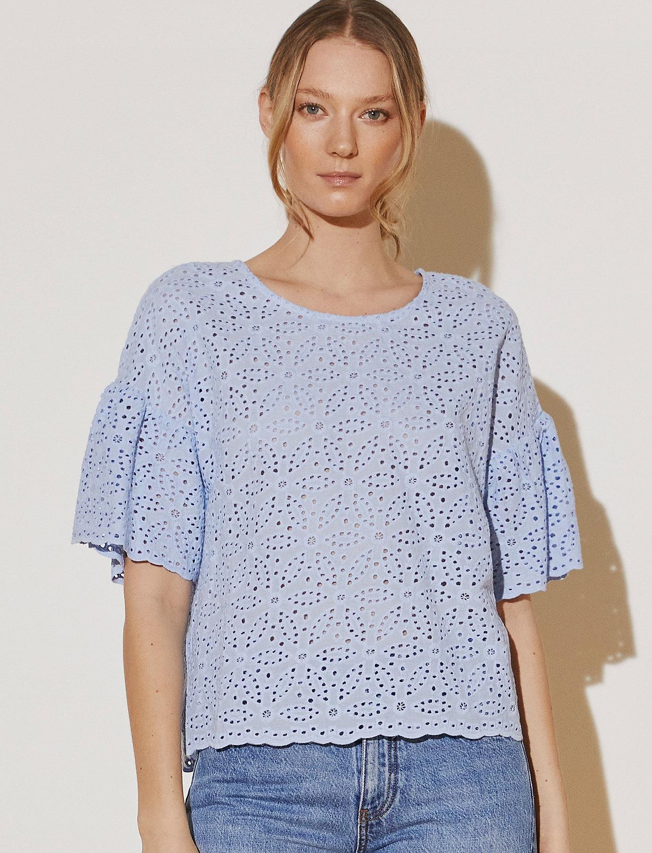 By Malina - Callie blouse - kortärmade blusar - sky blue - 0