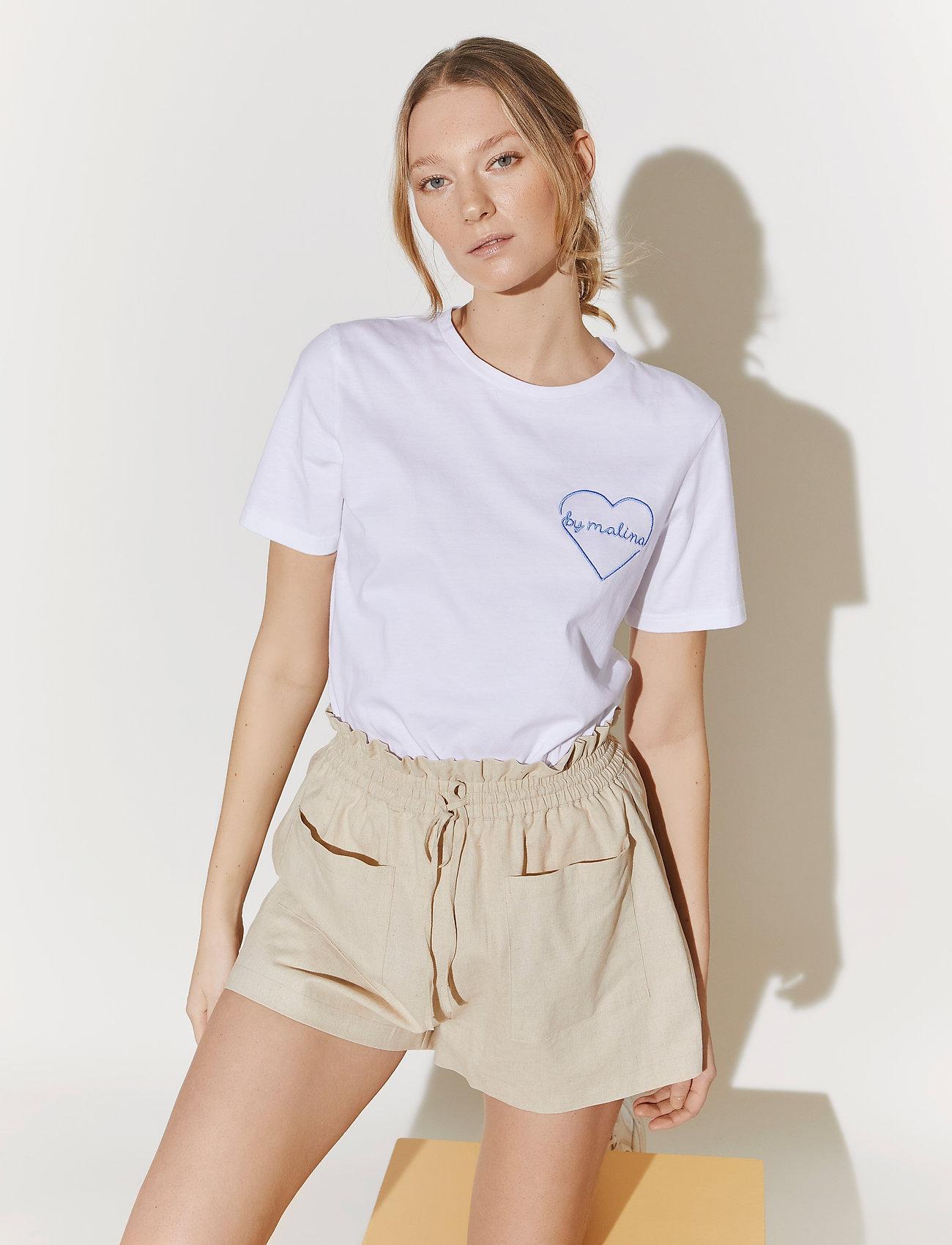 By Malina - Darling tee - t-shirts - white - 0
