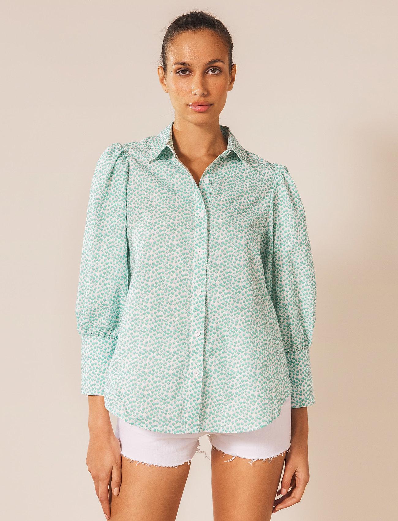 By Malina - Eliza shirt - långärmade skjortor - coastal flower - 0