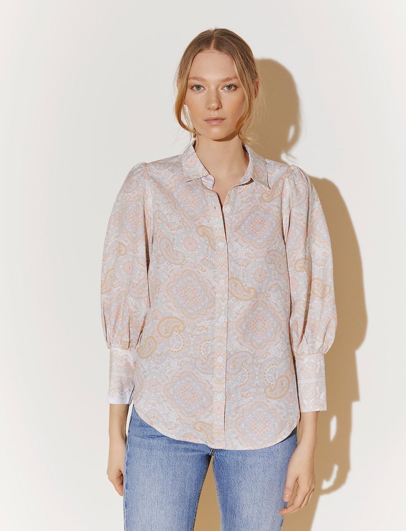 By Malina - Eliza shirt - långärmade skjortor - pastel paisley - 0