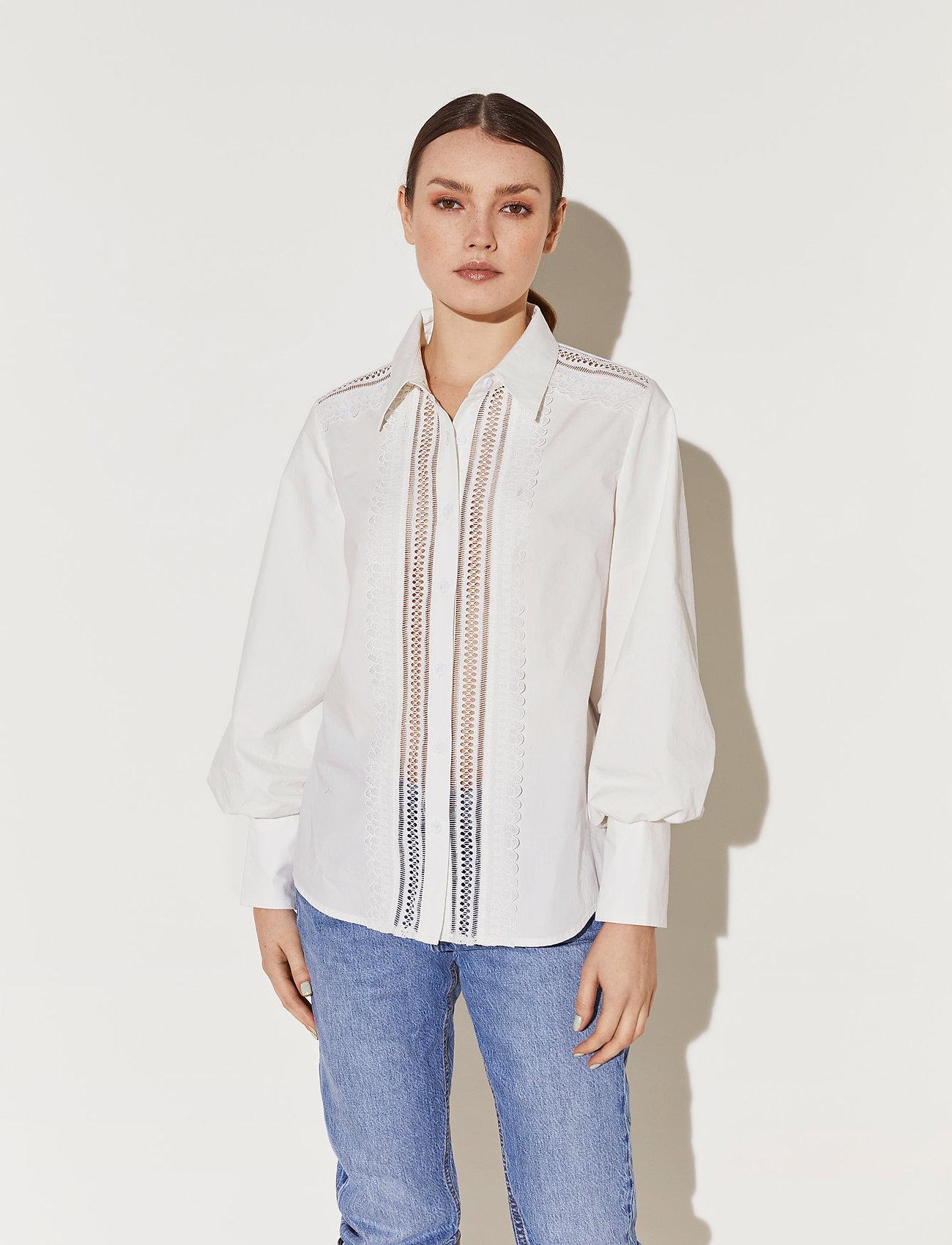 By Malina - Skylar shirt - långärmade blusar - white - 0
