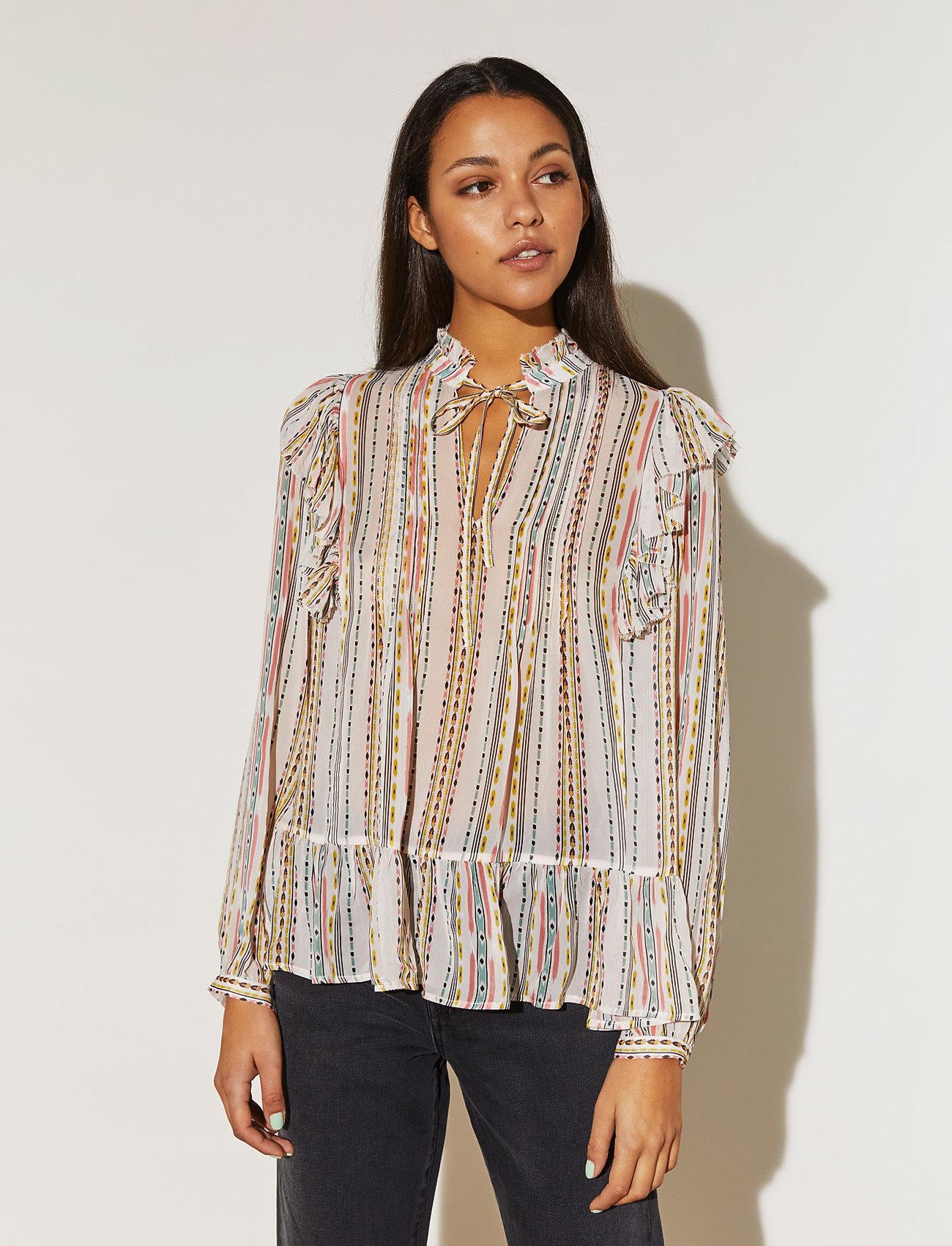 By Malina - Jade blouse - långärmade blusar - inca soft beige - 0