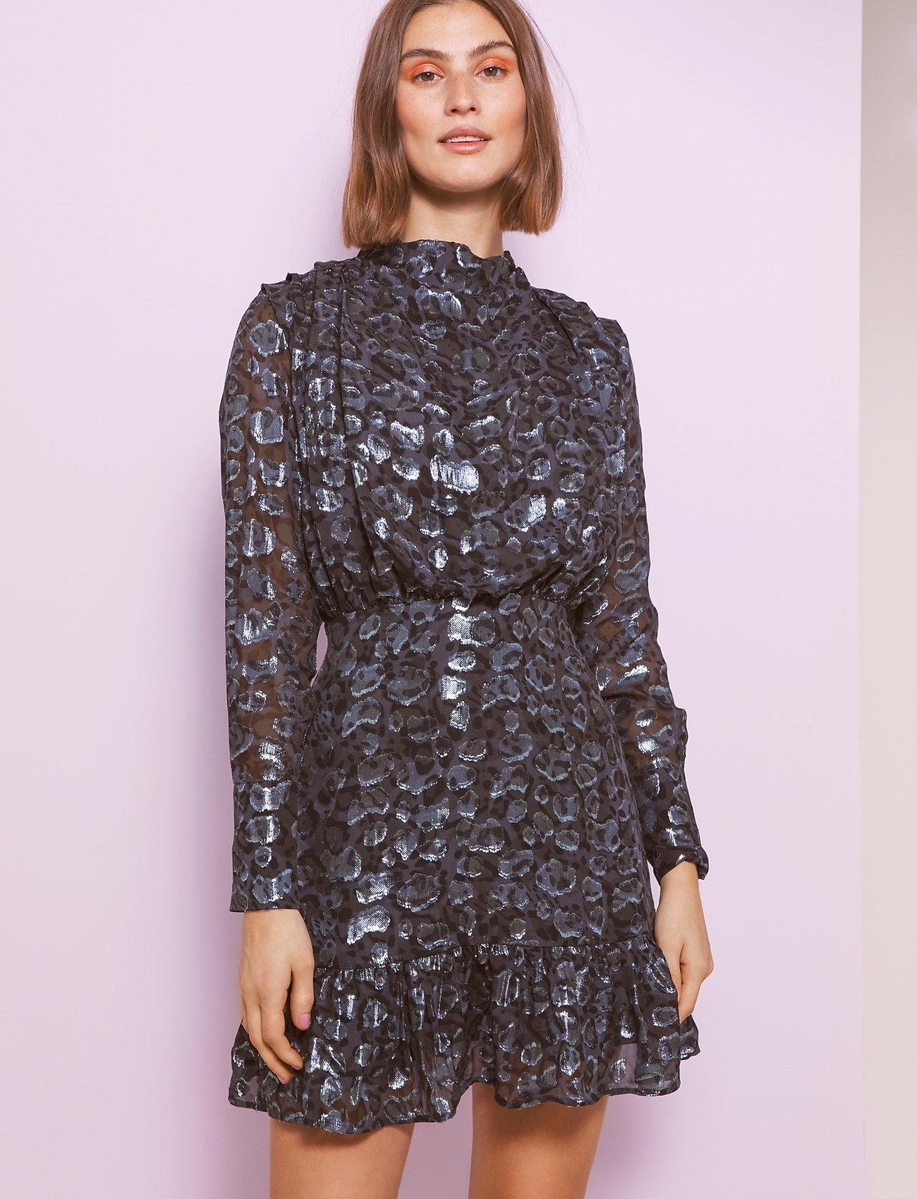 By Malina - Lively dress - festklänningar - black sparkle - 0