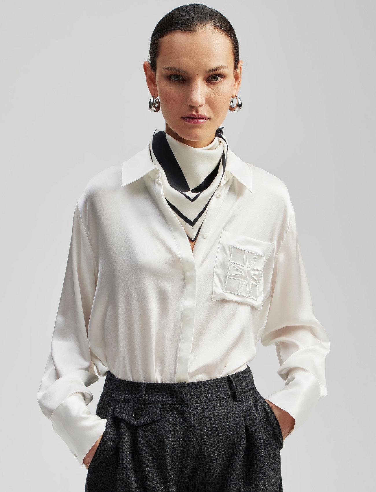 By Malina - Silk scarf - sjalar - iconic print cream - 0