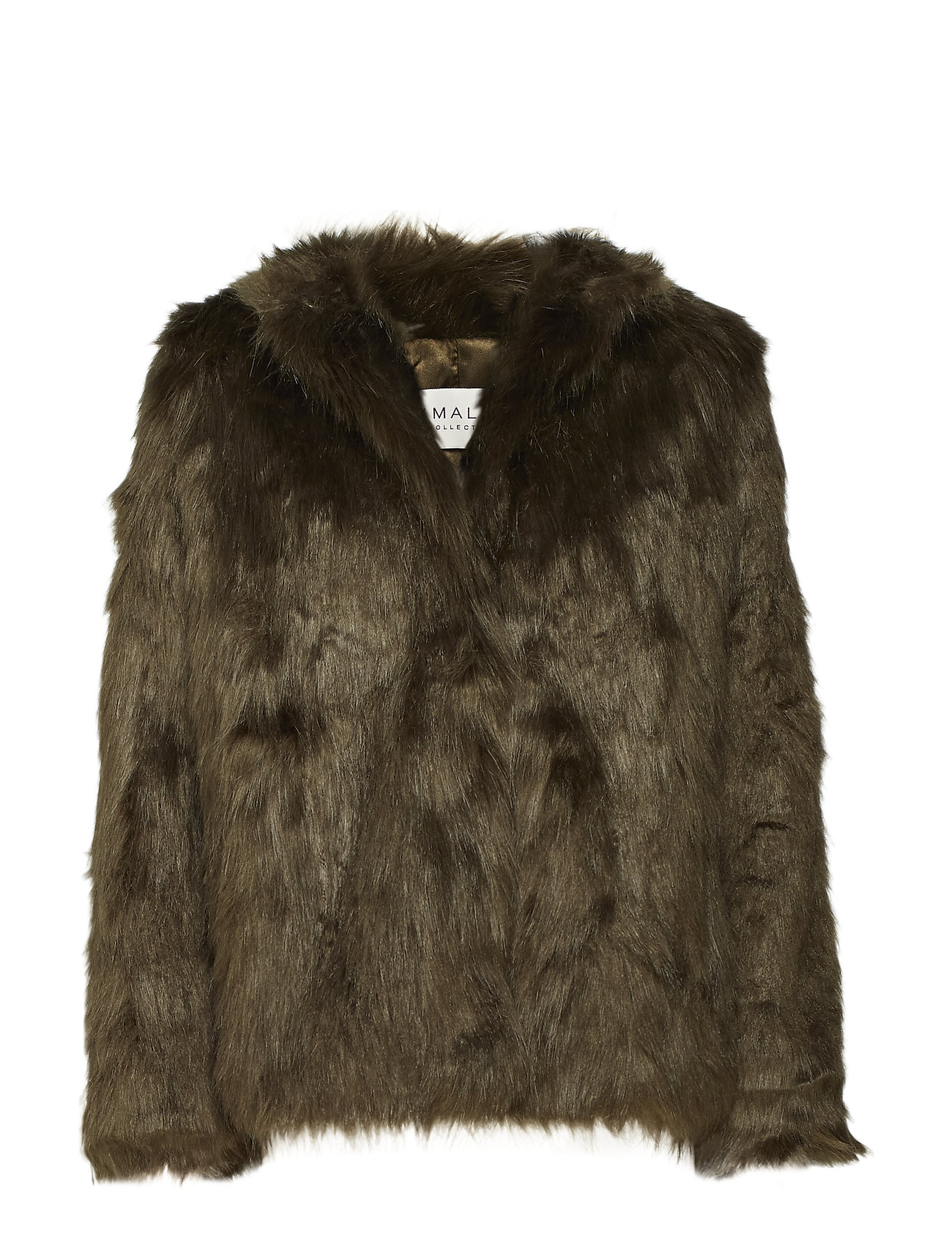 By Malina Addison faux fur coat - KHAKI