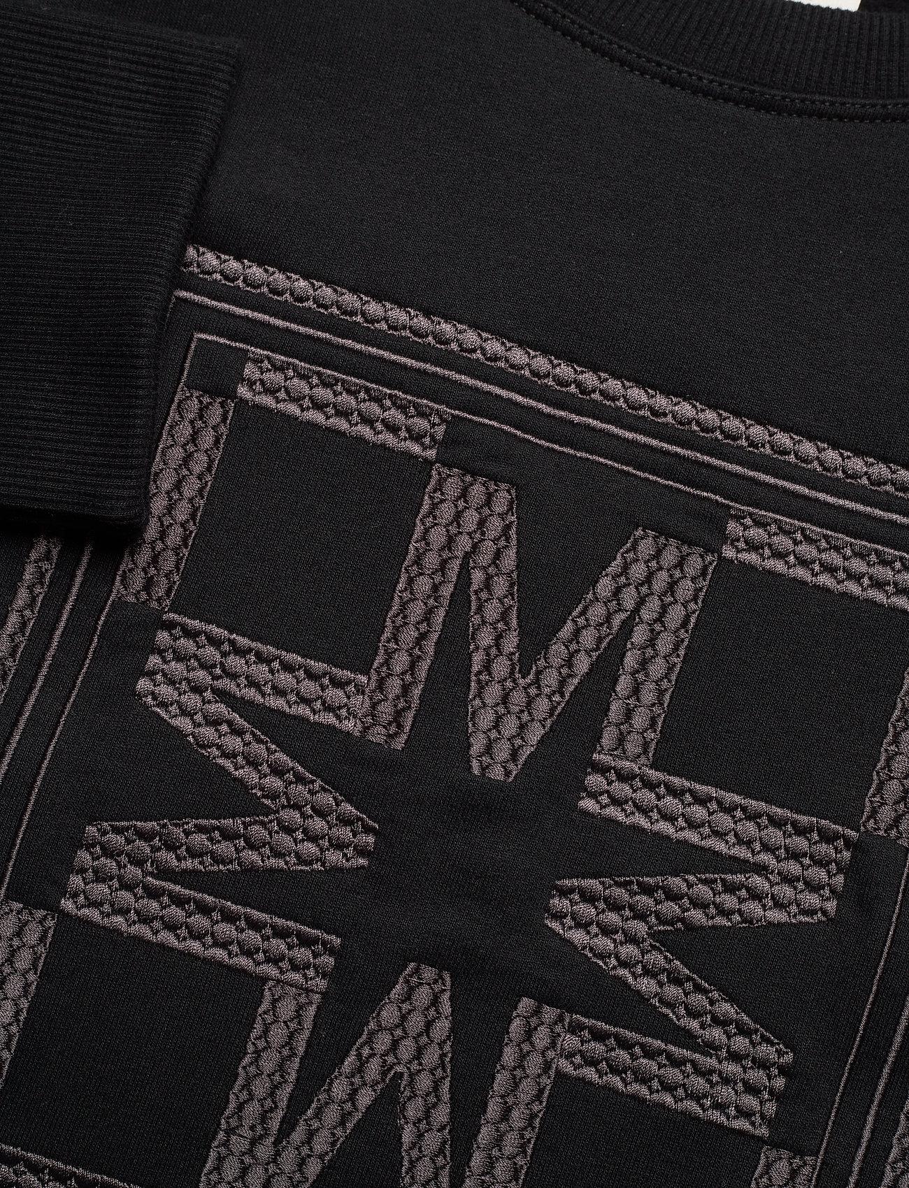 By Malina - Iconic cropped sweatshirt - sweatshirts & hoodies - black - 6