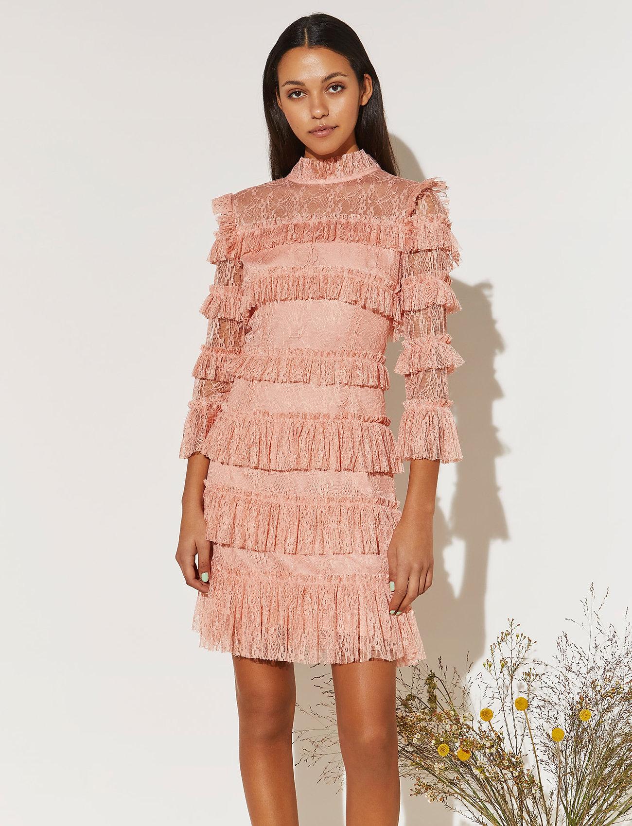 By Malina - Carmine mini dress - cocktailklänningar - coral rose - 0