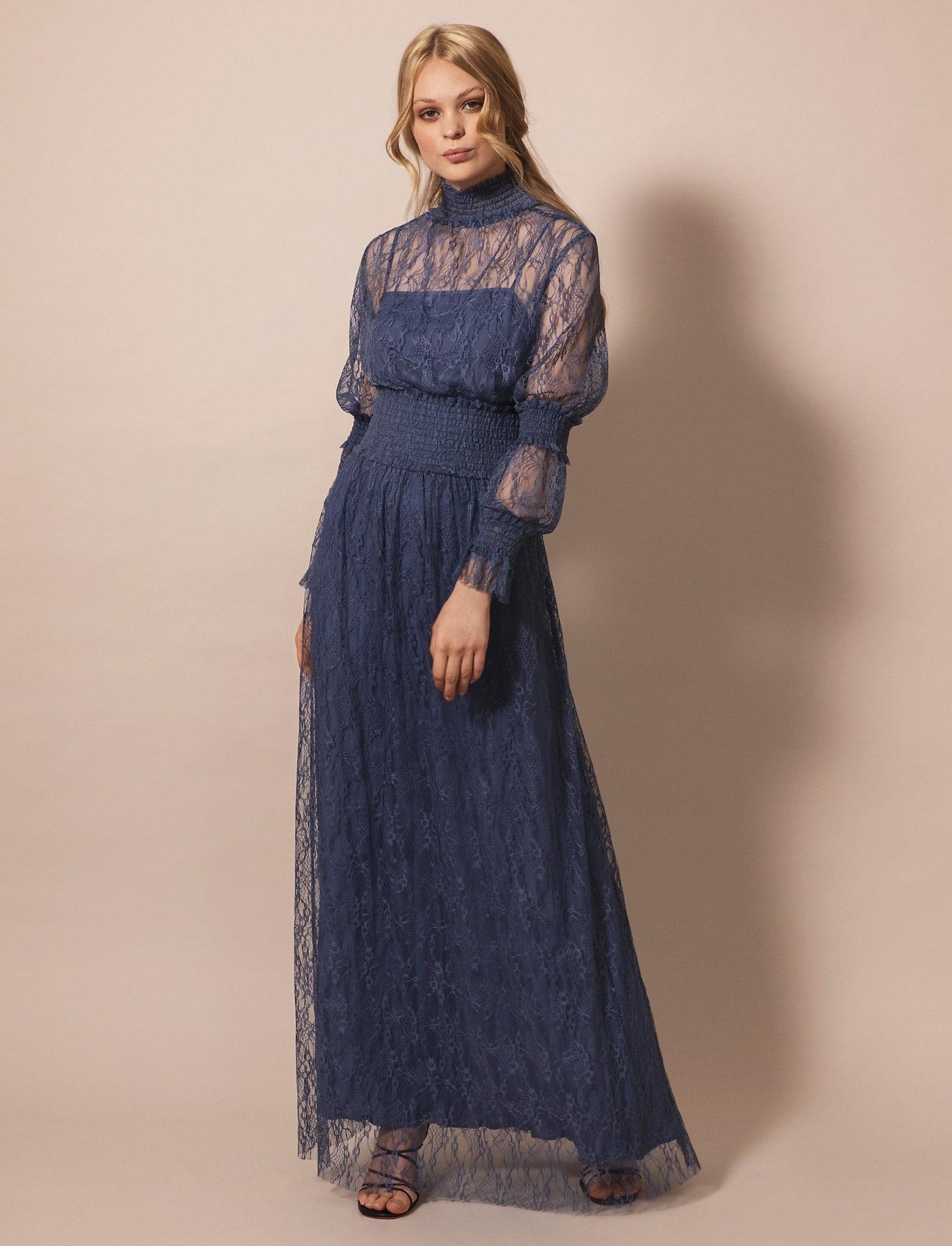 By Malina - Silvie dress - aftonklänningar - indigo blue - 0