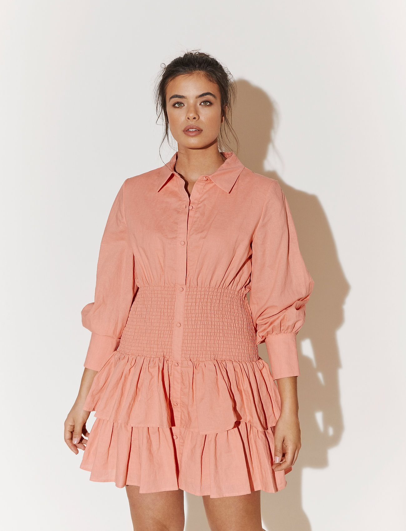 By Malina - Coralie dress - sommarklänningar - melon crush - 0