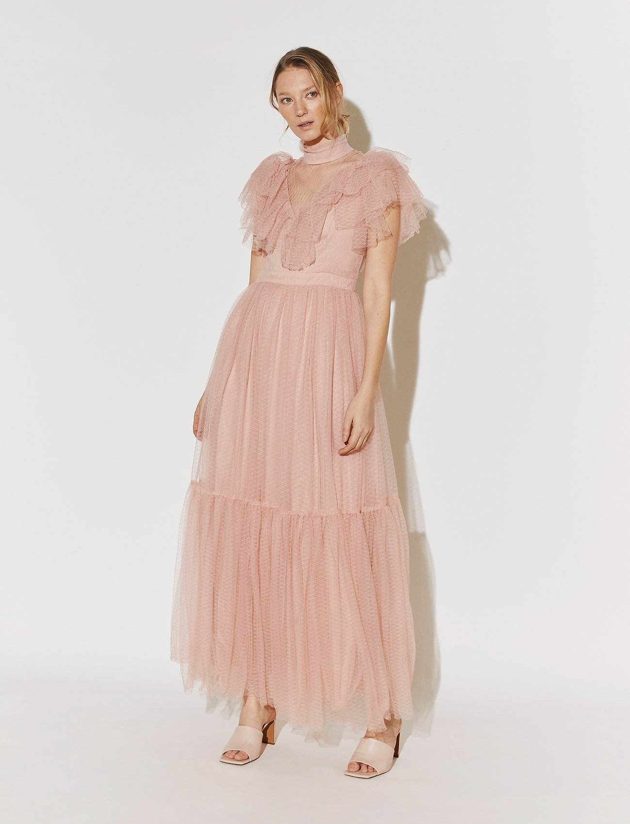 By Malina - Jolie dress - aftonklänningar - dusty pink - 0