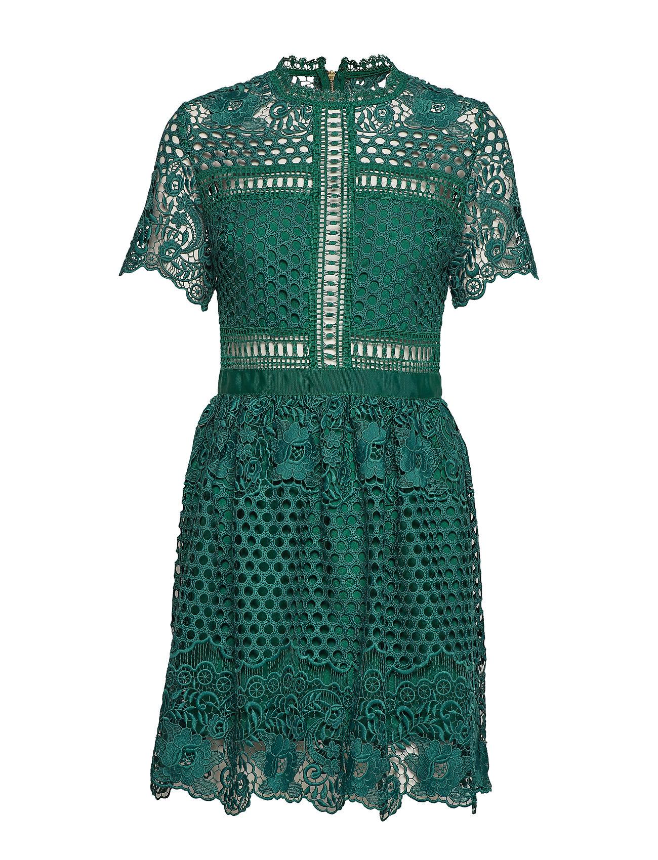 By Malina Flower Emily dress - BASIL GREEN