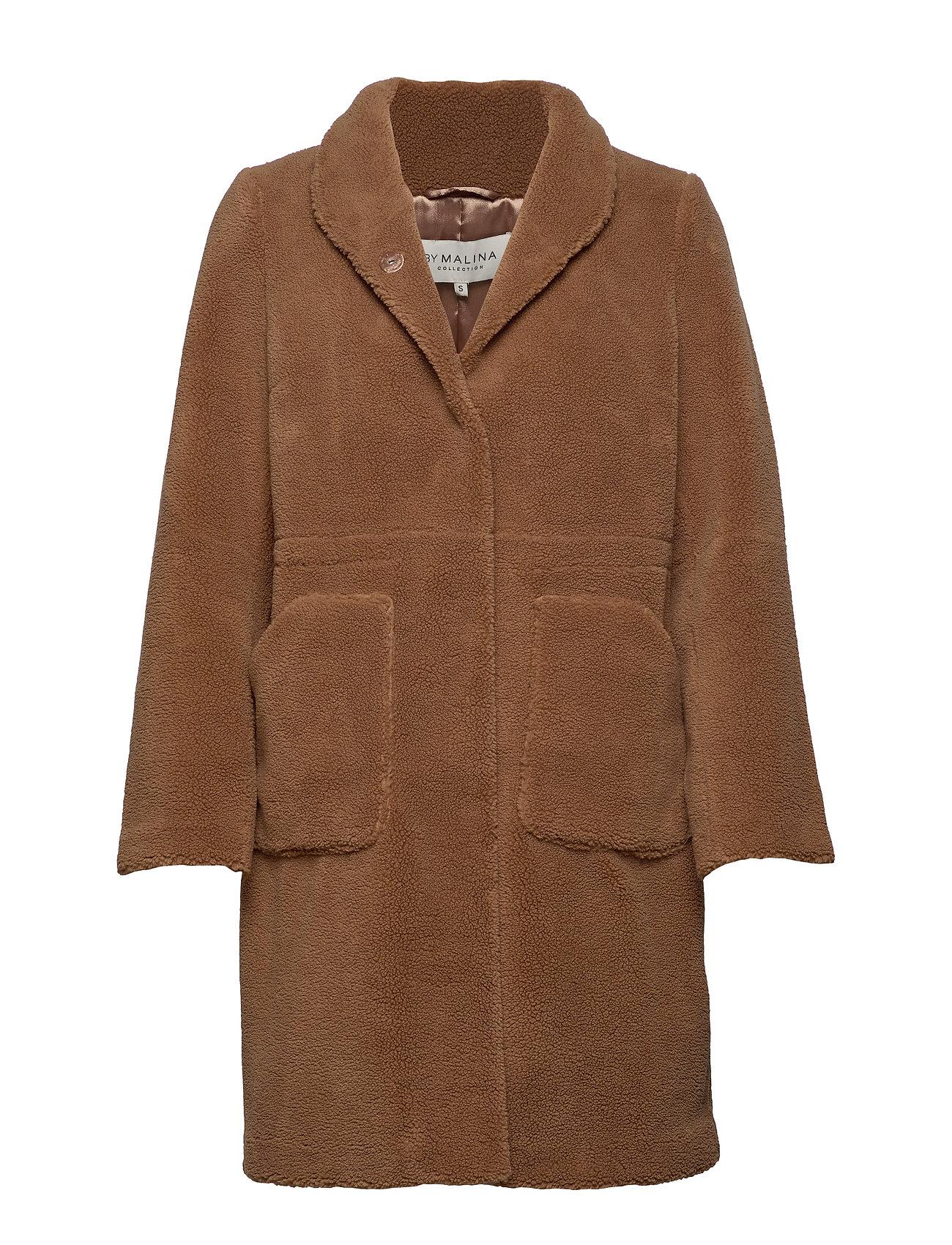 By Malina Pam teddy faux fur coat - SPICED HONEY