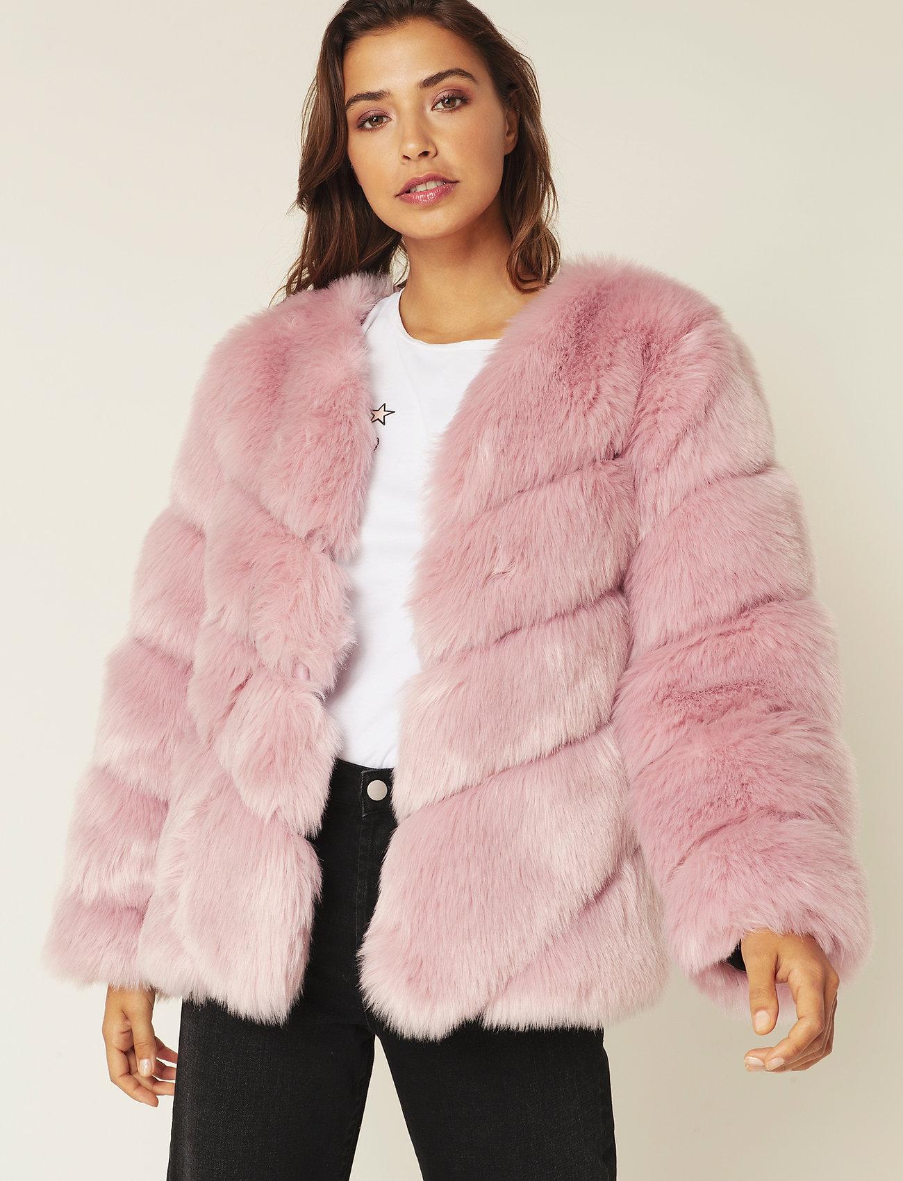 By Malina - Oria faux fur jacket - sztuczne futro - rosé - 0