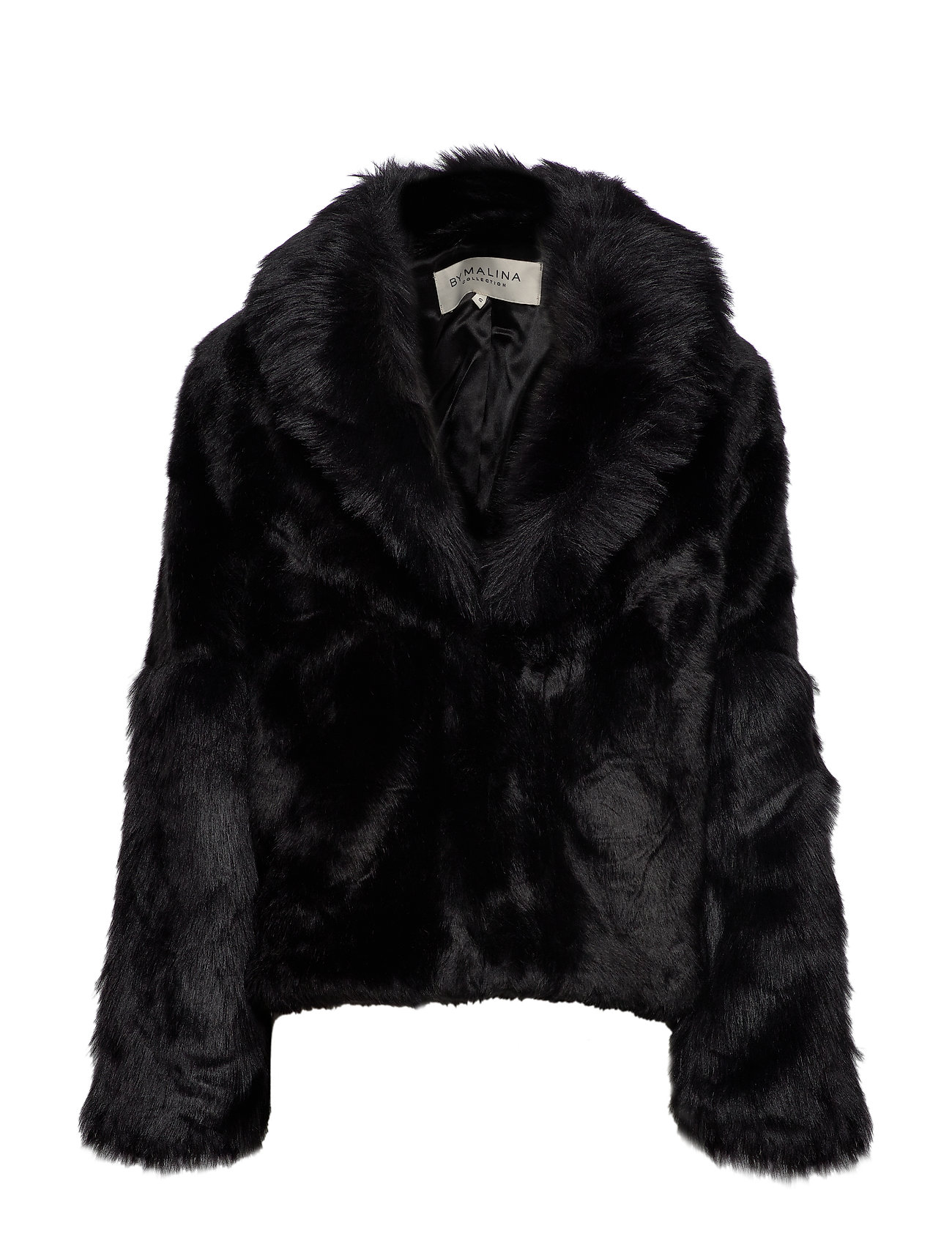 By Malina Alma faux fur jacket - BLACK